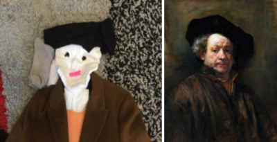 Year 5s Recreate Famous Artwork At Home